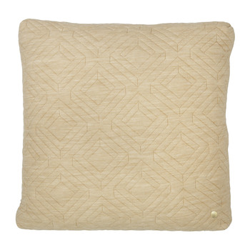 Quilted Pillow - 45x45cm - Camel