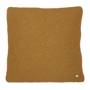 Quilted Pillow - 45x45cm - Curry