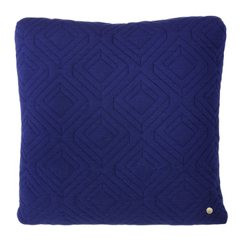 Quilted Pillow - 45x45cm - Dark Blue