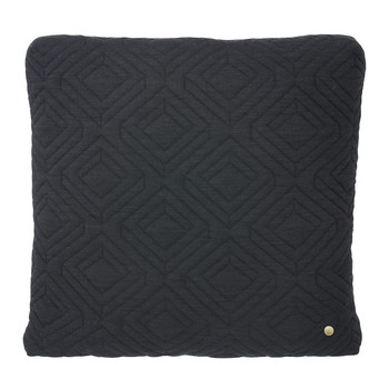 Quilted Pillow - 45x45cm - Dark Gray