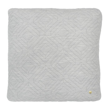 Quilted Pillow - 45x45cm - Light Gray