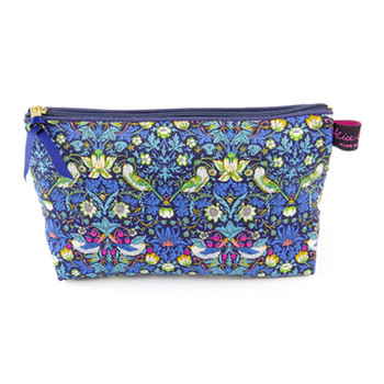 Cosmetic Bag - Liberty Strawberry Thief Blue