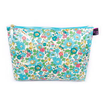Wash Bag1 - Liberty Betsy Turquoise