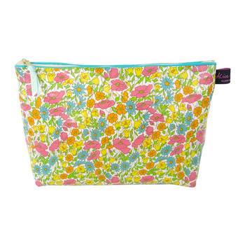 Wash Bag - Liberty Poppy and Daisy Yellow
