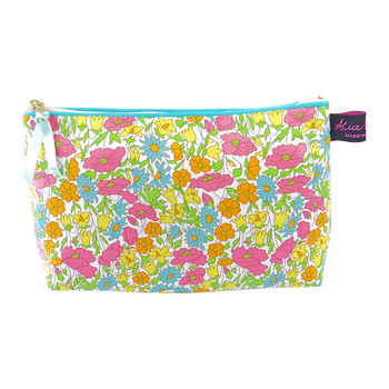 Cosmetic Bag - Liberty Poppy and Daisy Yellow