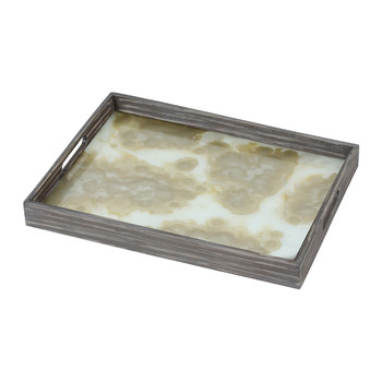 Mist Organic Glass Tray - Rectangular - Small