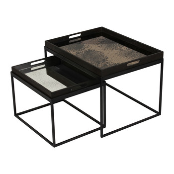 Rectangular Nesting Tray Table Set