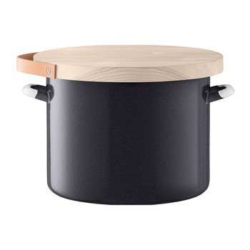 Bread Bin & Ash Board - Pepper Black