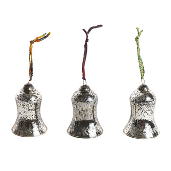 Bell Glass Bauble - Set of 3 - Antique Smoke