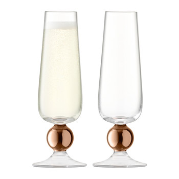 Oro Champagne Flute - Set of 2 - Rose Gold