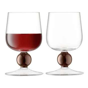 Oro Red Wine Glass - Set of 2 - Copper