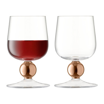 Oro Red Wine Glass - Set of 2 - Rose Gold