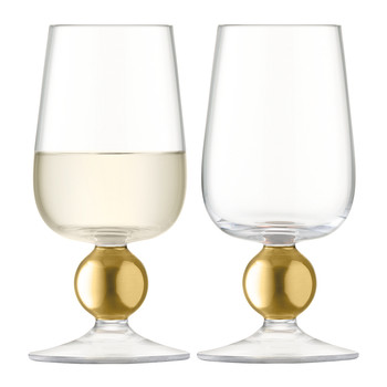 Oro White Wine Glass - Set of 2 - Matt Gold