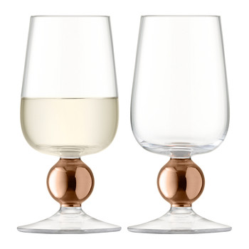 Oro White Wine Glass - Rose Gold