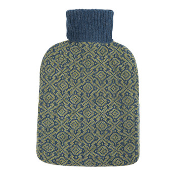 Oakhurst Cashmere Hot Water Bottle - Indigo