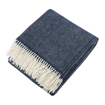 Calanques Wool Throw - Navy Blue