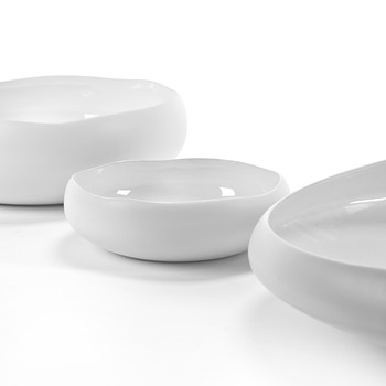 Irregular Serving Bowl - White
