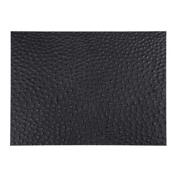 Toulon Recycled Leather Placemat - Coal