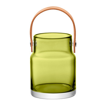 Utility Pot & Leather Handle - Olive Green