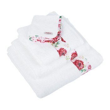 Antique Rose Band Towel