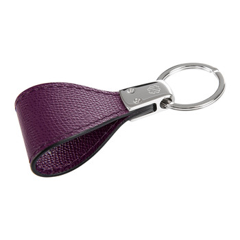 Fullerton Avenue Leather Keyring - Grape Golf