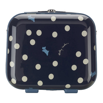Vintage Dog Dot Vanity Case - Navy