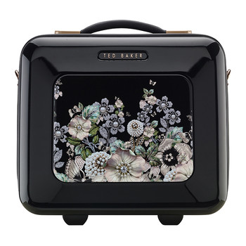Gem Garden Vanity Case - Black