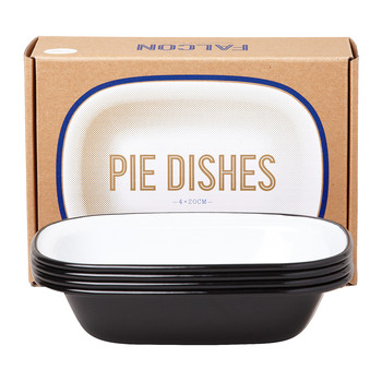 Pie Dishes - Set of 4 - Coal Black