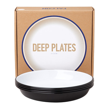 Deep Plate - Set of 4 - Coal Black
