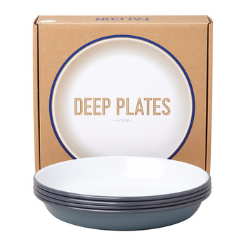 Deep Plate - Set of 4 - Pigeon Grey