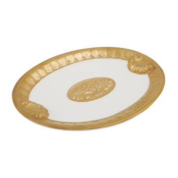 Impero Soap Dish - White & Antique Gold