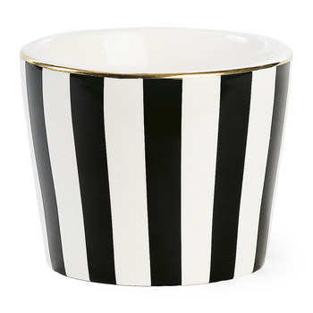 Ceramic Pot - Black Stripe