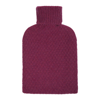 Clyborne Cashmere Hot Water Bottle - Wildberry - Wildberry