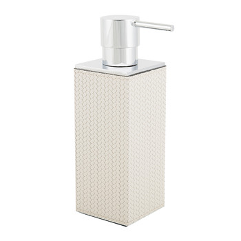 Charles Street Leather Soap Dispenser - Cream
