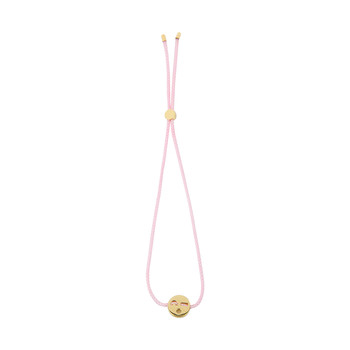 Flirty Cord Bracelet - 18ct Gold - Rose Pink