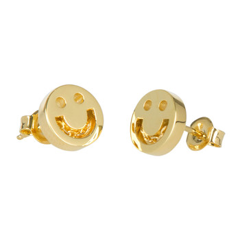 Happy Chain Stud Earrings - 18ct Gold