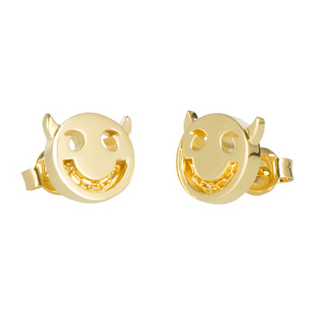 Wicked Chain Stud Earrings - 18ct Gold