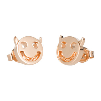 Wicked Chain Stud Earrings - 18ct Rose Gold