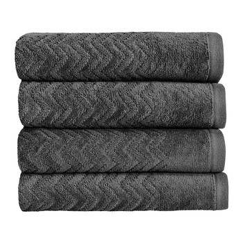 Chevron Towel - Graphite
