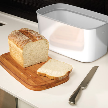 Steel Bread Box - White