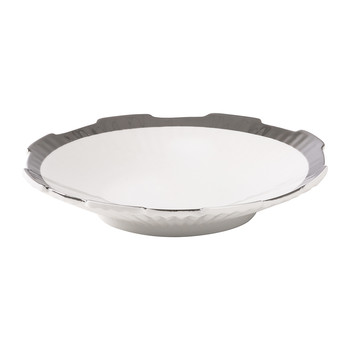 Machine Collection Soup Plate - Design 1 Silver