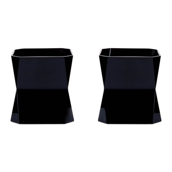 Cibi Double Old Fashioned Glass - Set of 2 - Black