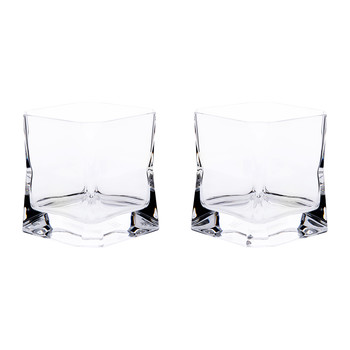Cibi Double Old Fashioned Glass - Set of 2 - Clear