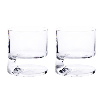 Smoke Double Old Fashion Glass - Set of 2 - Clear