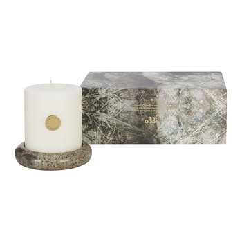 Stone Pillar Candle Gift Set