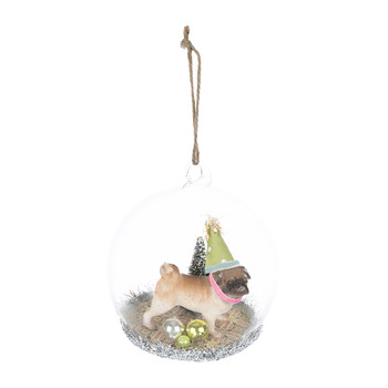 Party Dog Christmas Bauble