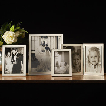 White Enamel Photo Frame