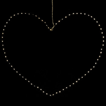 Liva Heart Light Decoration - Black