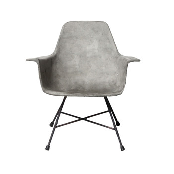 Concrete Hauteville Low Armchair
