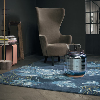 Fabled Floral Rug - Navy